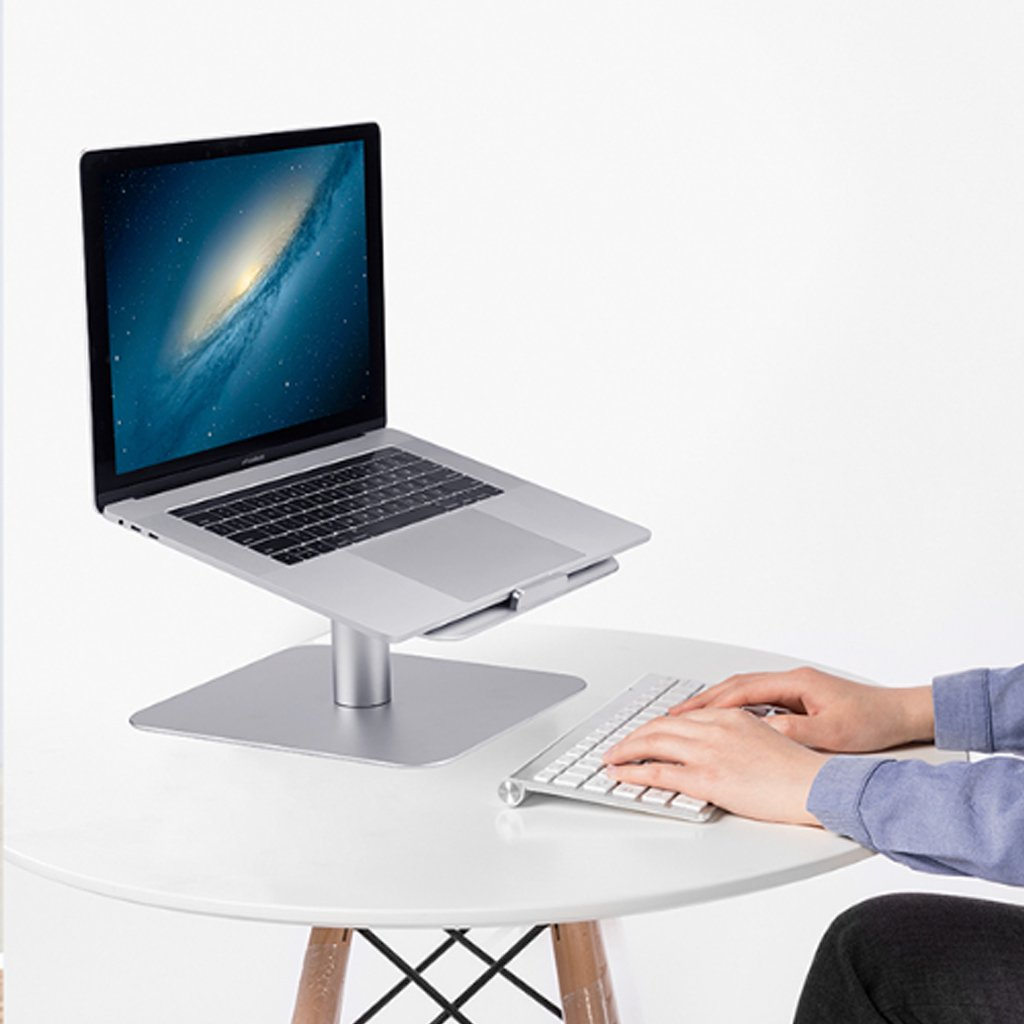 XY Soap dish Rotary Notebook Laptop Creative Stand Holder, Apple Radiator Base Desktop Aluminum Notebook Desktop, Aluminum Notebook Base Creative Holder, 26cm16cm9.3cm by XY Soap dish (Image #3)