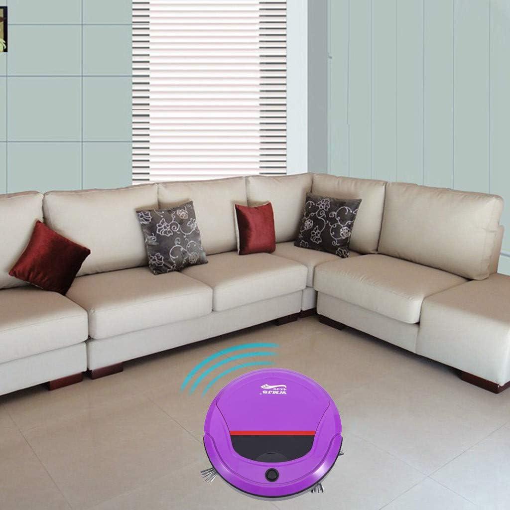 Barredora Inteligente y Recargable con Mini Robot Aspirador para Limpiar el Piso Robot de Barrido Hogar Inteligente Aspiración Automática y Trapeado una Máquina Ultrafina (Púrpura): Amazon.es: Hogar