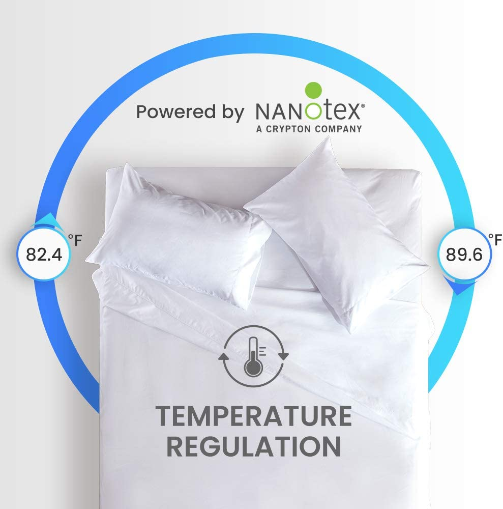 Full SLEEP ZONE Bed Sheet Set Cooling with Nanotex Moisture Wicking Technology Double Brushed Soft Wrinkle Free Fade Resistant Easy Care Sheets 4 Pieces Beige