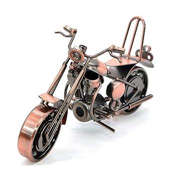 Mano Soldadura Hierro forjado motocicleta modelo bronce tono metal Moto colección Simple moderna decoración del hogar adornos para los amantes de la ...