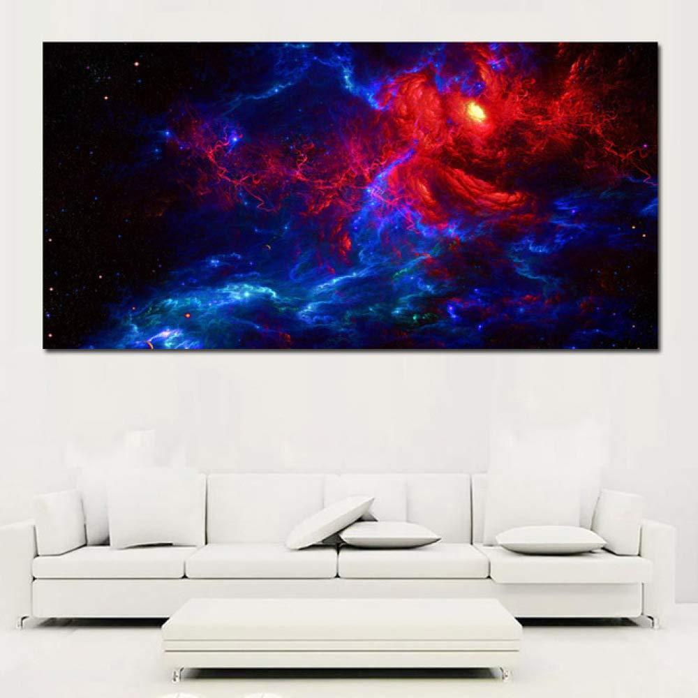 NIMCG Estilo de Arte Nebulosa Lienzo Pintura Nube Estrella ...