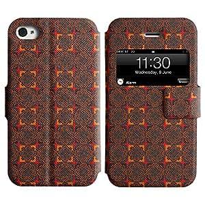 LEOCASE flores rojas Funda Carcasa Cuero Tapa Case Para Apple iPhone 4 / 4S No.1002967