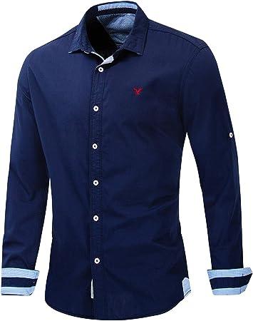 X&Armanis Camisa Casual de Negocios para Hombre, Camisa ...
