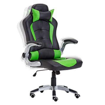 Sports Racing Gaming Chair Rocking Office Computer Desk Swivel High Back Leather
