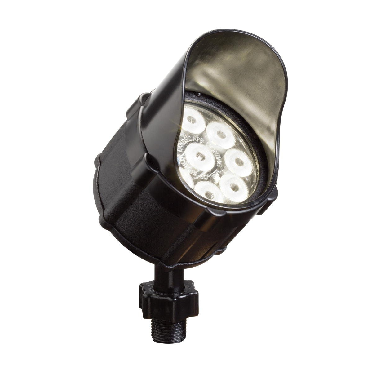 Kichler Lighting 15752BKT LED Accent Light 9-Light Low Voltage 35 Degree Flood Light, Textured Black with Clear Tempered Glass Lens by Kichler Lighting