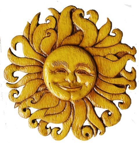 Sun Face Celestial Wall Decor Plaque