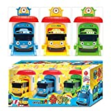 The Little Bus TAYO Shooting Car Set (Tayo + Rogi + Rani) Little Bus Tayo shooting car Toy Set, Korean popular anime toys + solid-state light pen one [parallel import goods]