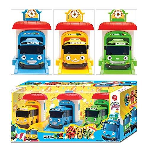 [해외]The Little Bus TAYO Shooting Car Set (Tayo + Rogi + Rani) 리틀 버스 タヨ 슈팅 카 장난감 세트, 대한민국 인기 애니메이션 장난감 + 고체 형 광 펜 1 개 [병행 수입 / The Little Bus TAYO Shooting Car Set (Tayo+Rogi+Rani) Little Bath Tayo ...
