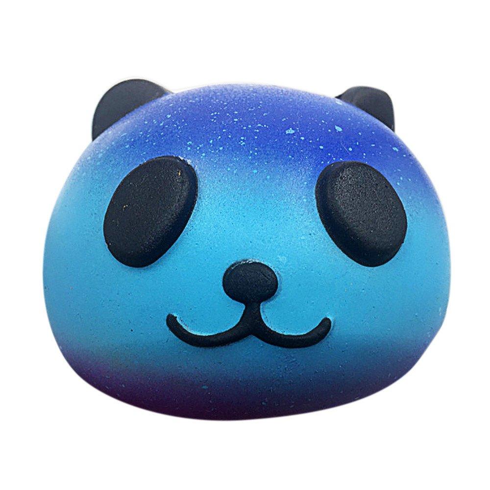 Prise Druck Dekompression Spielzeug langsam Rebound PU Extrusion Spielzeug, Malloom Starry Cute 10cm Panda Baby Creme duftenden Squishy steigende Squeeze Kinder Malloom-Bekleidung