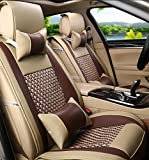 Car Seat cover trim? Universal before the rear car seat cover 10 pieces full of sentence programmable in Natural Leather