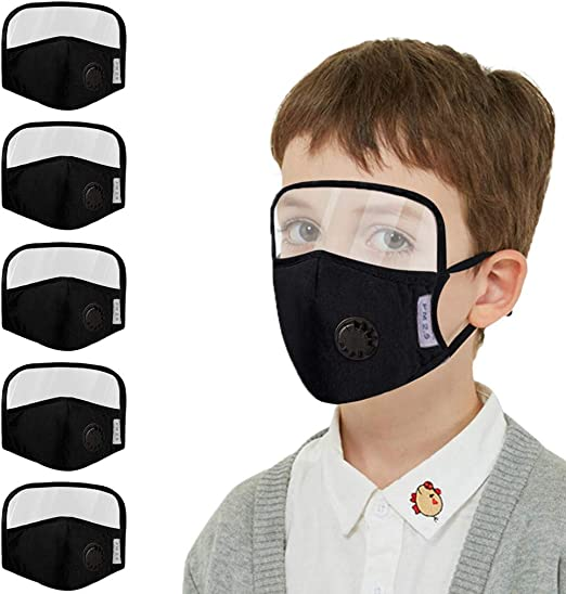 Outdoor w 5 PCS Children Reusable Anti Haze Protect Mouth Washable Breathable Anti-Fog Face Mouth Protection for School