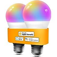 Refoss Bombilla LED Inteligente WiFi - Multicolor Regulable, Mando a distancia, 9W…