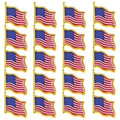 - This american flag pin is high quality. Tough epoxy varnish on die struck nickel plated brass. - Durable and long lasting pin die struck from jewelers metal, with hand filled bold enamel colors. - The USA flag design and pattern with comfor...