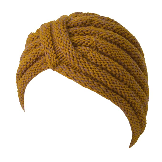Hippie Hats,  70s Hats Knit Womens Turban Beanie - Warm Winter Hat Head Wrap Hippie Boho Retro Fashion $19.98 AT vintagedancer.com