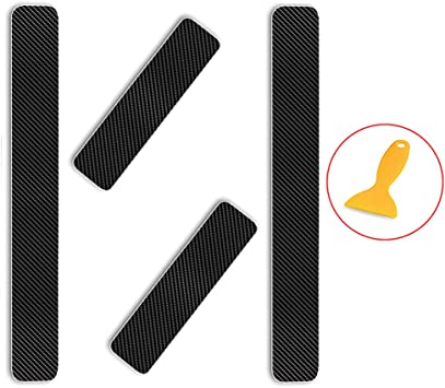 For CX-3,White For CX-3 Carbon Fiber Car Door Sill Scuff Guard Anti Scratch Panel Step Protector Stickers