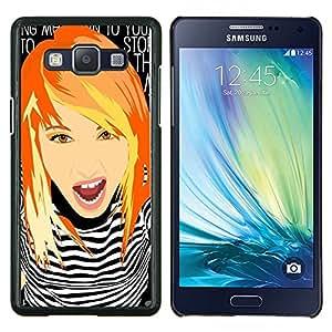 YiPhone /// Prima de resorte delgada de la cubierta del caso de Shell Armor - Muchacha lista Redhead jengibre Grunge del polluelo - Samsung Galaxy A5 A5000