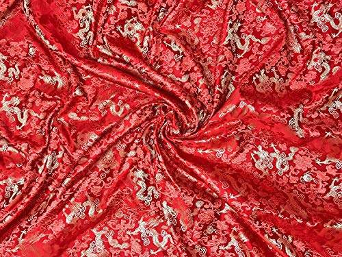 Buy silk brocade paisley fabric