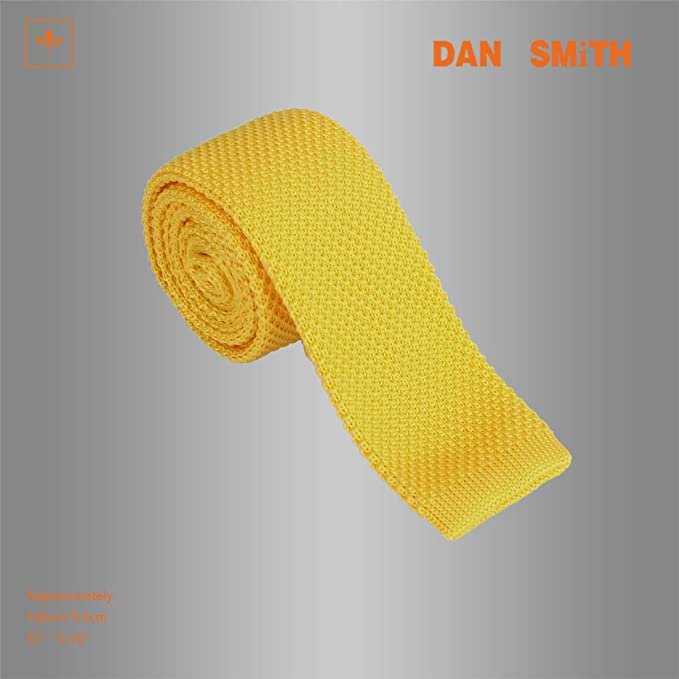 DAO3E01 Mens Solid Gift For World Skinny Knit Knit Tie For Groom By Dan Smith