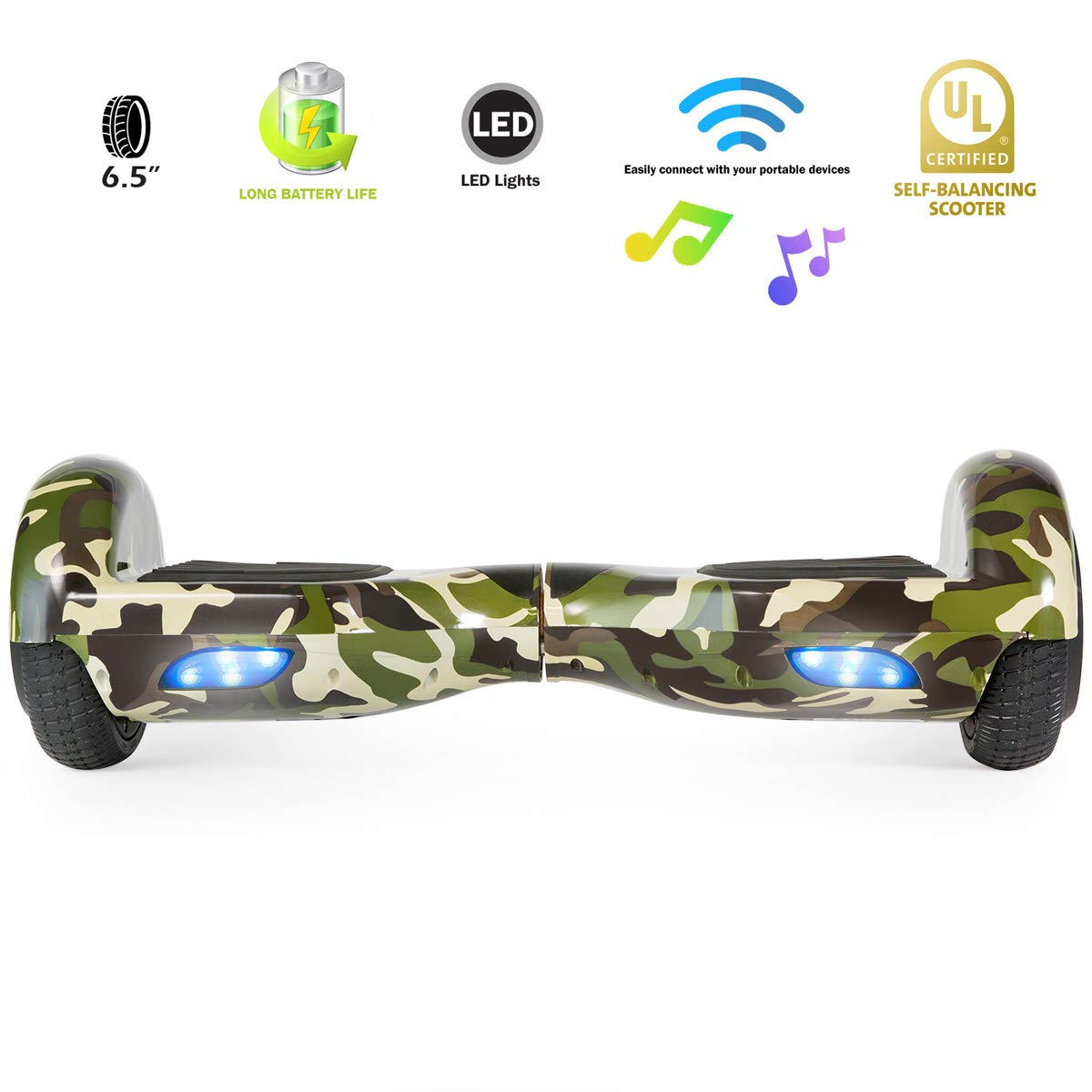 XPRIT Easter Sale Hoverboard w/Bluetooth Speaker (Camouflage) by XPRIT (Image #2)