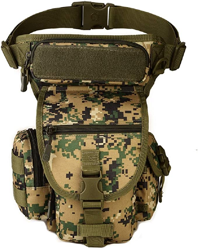 Yakmoo X5 Combat Leg Bag Waterproof Utilitary Pouch Tactical Military Thigh Pack Molle System Multifunctional Waist Bag for Outdoors