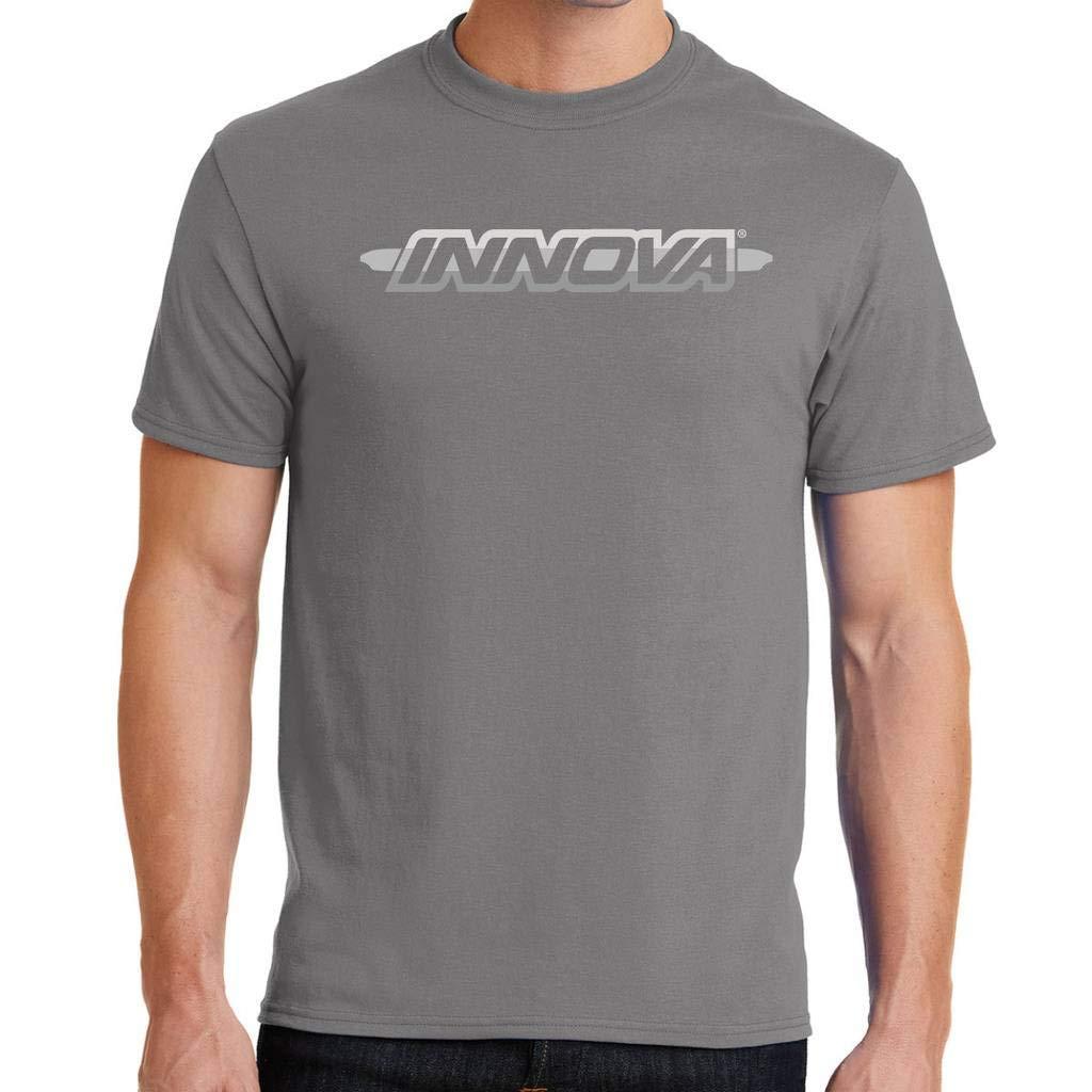 Innova Disc ゴルフストライプバーロゴ 半袖ディスクゴルフTシャツ B07G8QQY8B  グレー XX-Large