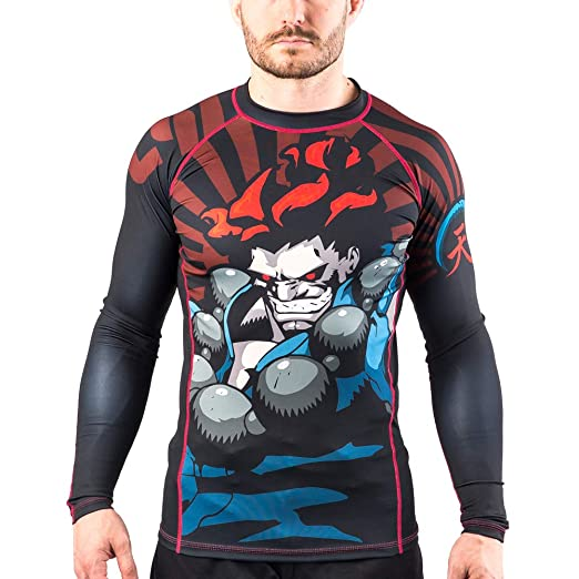 Fusion Fight Gear Street Fighter Akuma Compression Shirt BJJ Rash Guard