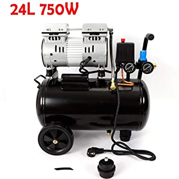 Oukaning Compresor de aire a presión, compresor de aire de 24 litros, silencioso,