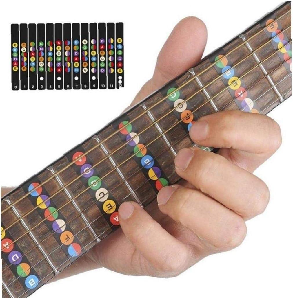 Case&Cover Diapasón de la Guitarra Notas Mapa Etiquetas de diapasón traste Calcomanías para 6 Guitarra eléctrica acústica