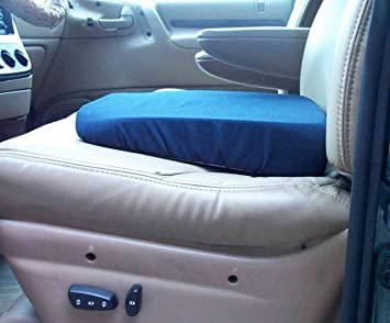 Seat Wedge Cushion 15x14 In Blue Washable Cover