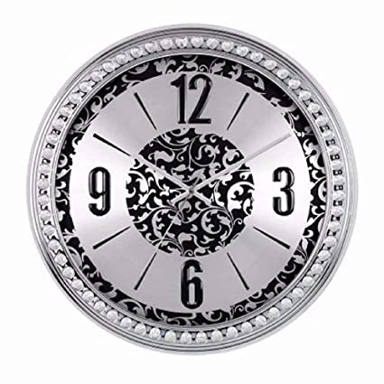 Amazon.com: SMC 18-inch Diamond Infinity - Round Wall Clock, Unique ...