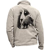 Pets-easy - Chaqueta polar con un jabalí, para perro, gran gascón de San Valentín