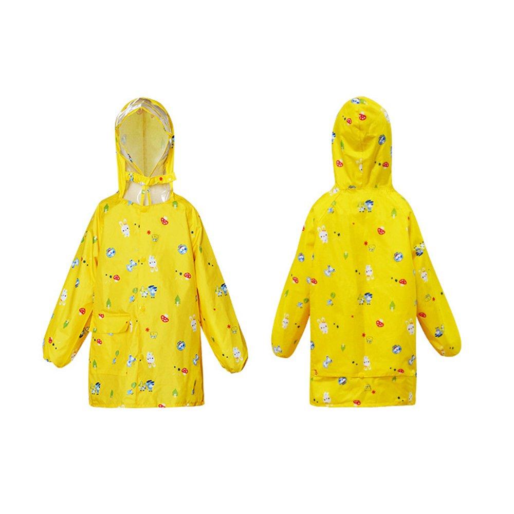 XX-grand Veste de pluie pour enfants Manche élastique Big Hat enfants imperméable garçons et filles Zipper imperméable bébé école primaire élèves sac d'école Poncho pour les filles gar&