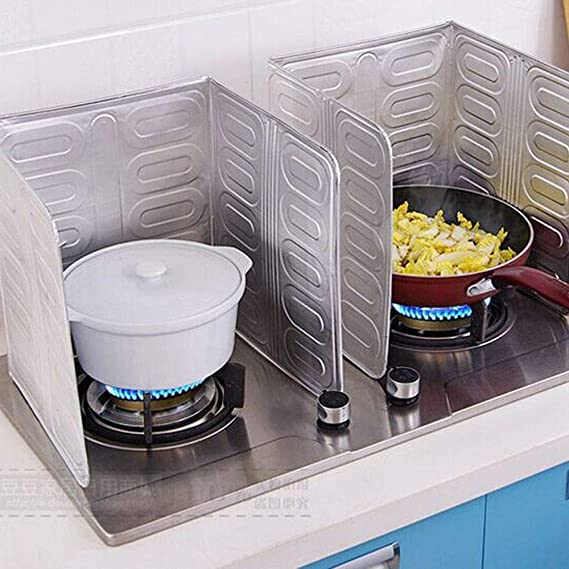 Amazon.com: Kitchen Anti Splatter Shield Guard Cooking Frying Pan Oil Splash Screen Cover: Kitchen & Dining