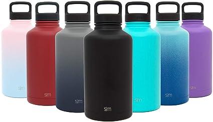28e18d5bb2 Simple Modern 22 oz Summit Water Bottle - Stainless Steel Liter Flask +2  Lids -