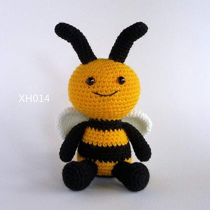 Amazon.com: JEWH Amigurumi Bee, juguete de ganchillo, muñeca ...