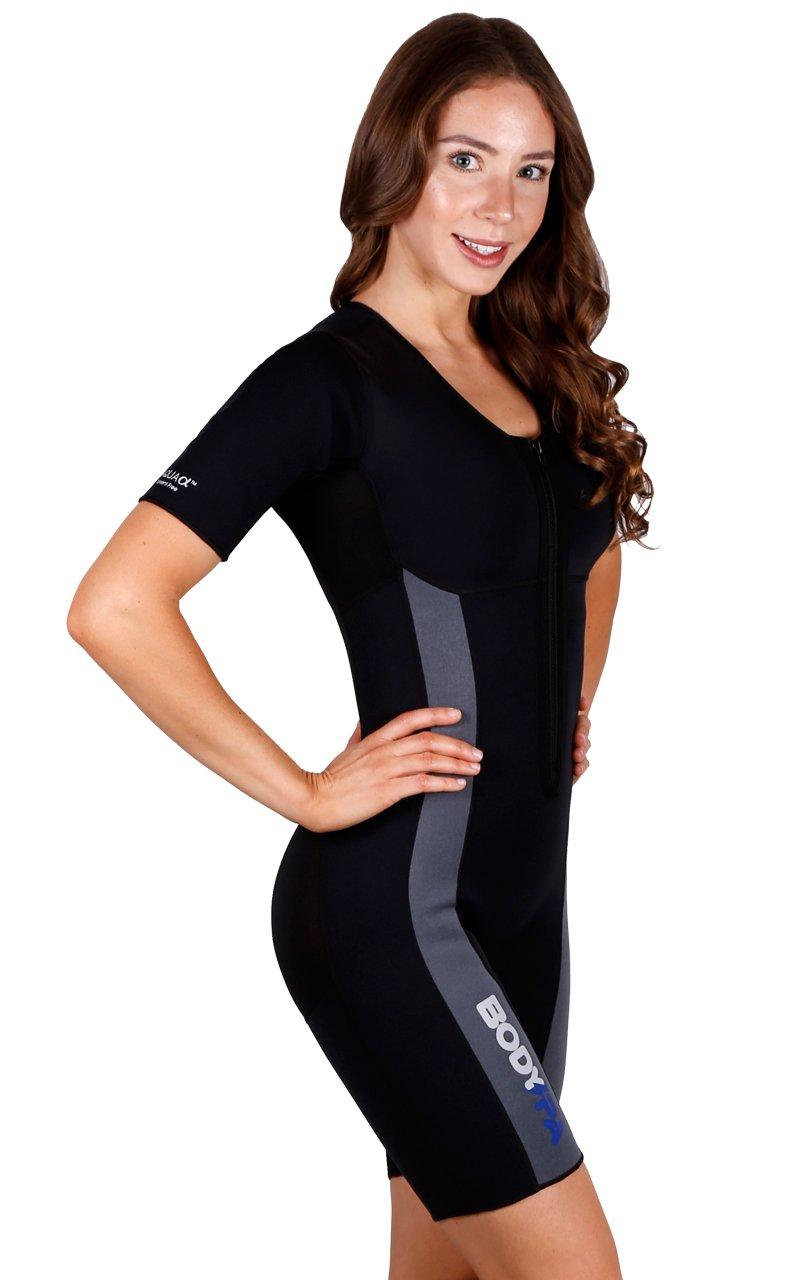 Sauna Suit Neoprene Weight Loss Gym Sport Aerobic Boxing MMA 13930 (Small, Dark Grey)