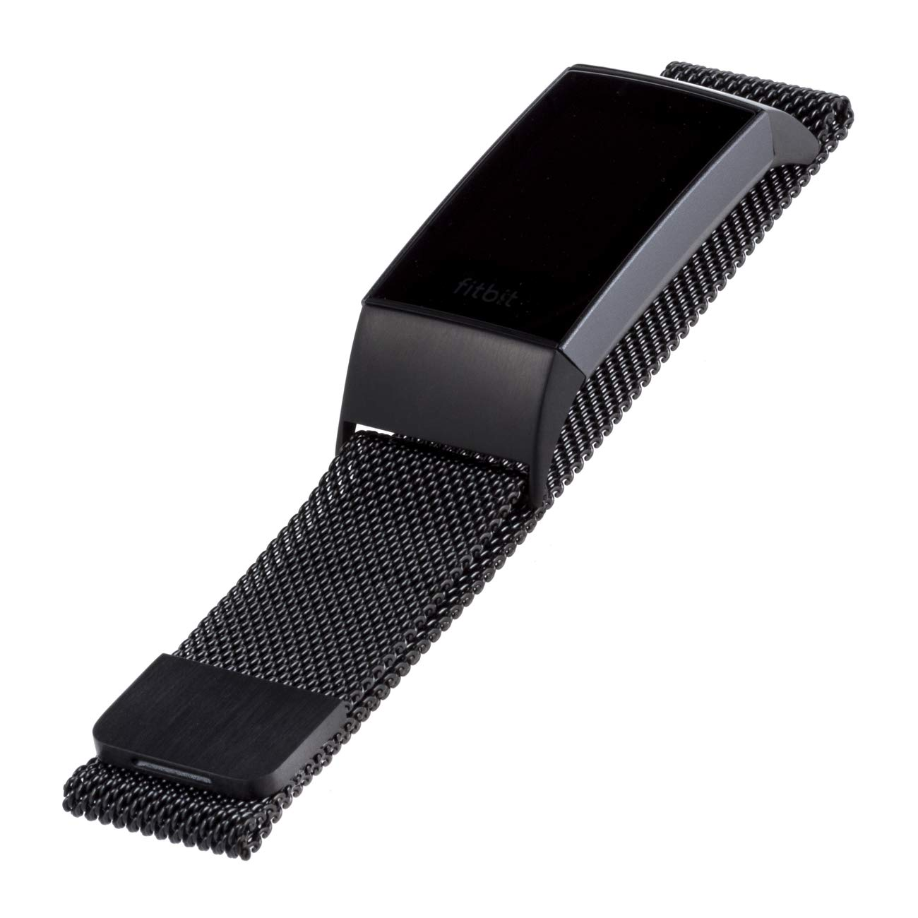 WITHit Designer Stainless Steel Mesh Fitbit Charge 3 Band, Black - Secure, Adjustable, Fitbit Watch Band Replacement with Magnetic Closure, Fits Most Wrists, Sweat-Resistant Accessories by WITHit