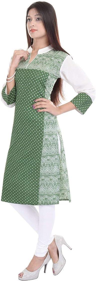 Chichi Indian Womens Printed Cotton Kurti Top