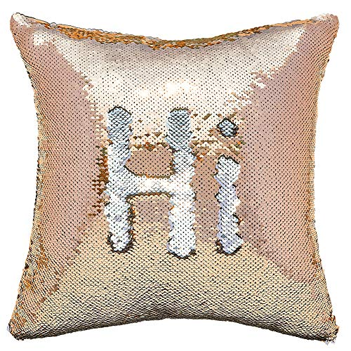 MHJY Sequin Pillow with Insert,Reversible Sequin Throw Pillow Mermaid Pillow Magic Color Change Pillow Sparkly Two-Color Gift Fun Pillow for Home Car Sofa