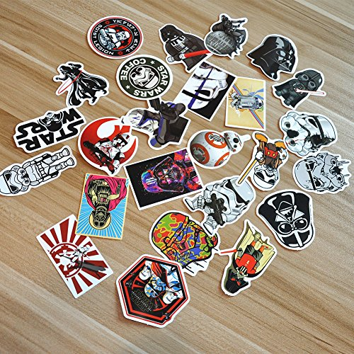 Star Wars 25Pcs PVC Decals Waterproof Sunlight-Proof DIY Ide
