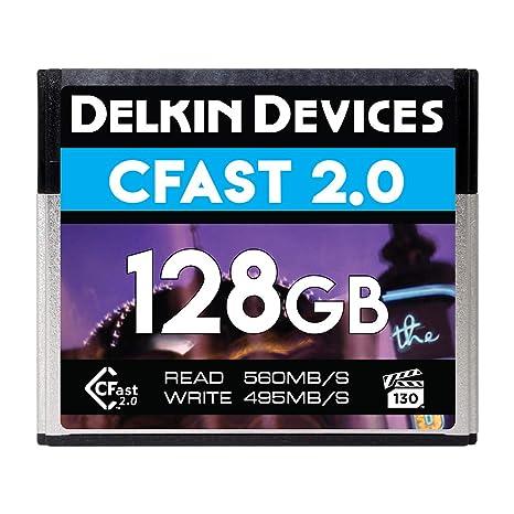 Delkin DCFSTV128 Cfast 2.0 Vpg-130 - Tarjeta de Memoria (128 ...