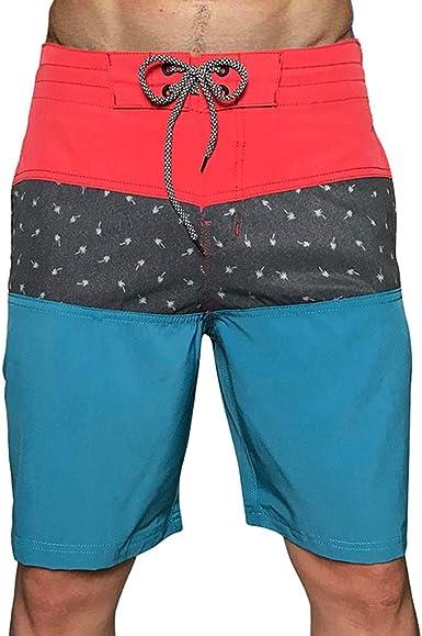 pantalón Corto Hombre Verano Casual Pantalones Cortos de Playa de Surf de Secado rápido bañador de natación de algodón elásticos Impermeables Shorts: Amazon.es: Ropa y accesorios