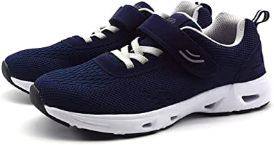 AOIREMON Casual Comfort Walking Shoes,Breathable Safety Non-Slip Hook & Loop Sneakers, Diabetic Edema Feet Soft Sole Air Cushion Shoes for Men & Elderly