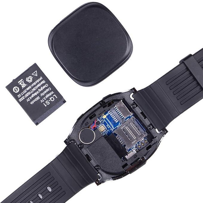 FAVOLOOK T8 - Podómetro con pantalla táctil para iPhone y Android, Bluetooth, deporte, reloj inteligente KeepGoo, 0.02, color negro: Amazon.es: Deportes y ...