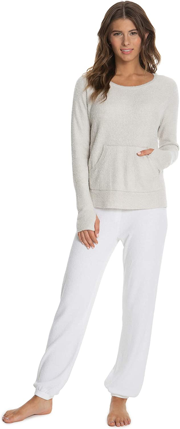 Ultra Soft Long Sleeve Barefoot Dreams CozyChic Ultra Lite Slouchy Pullover for Women Crew Neck Pullover