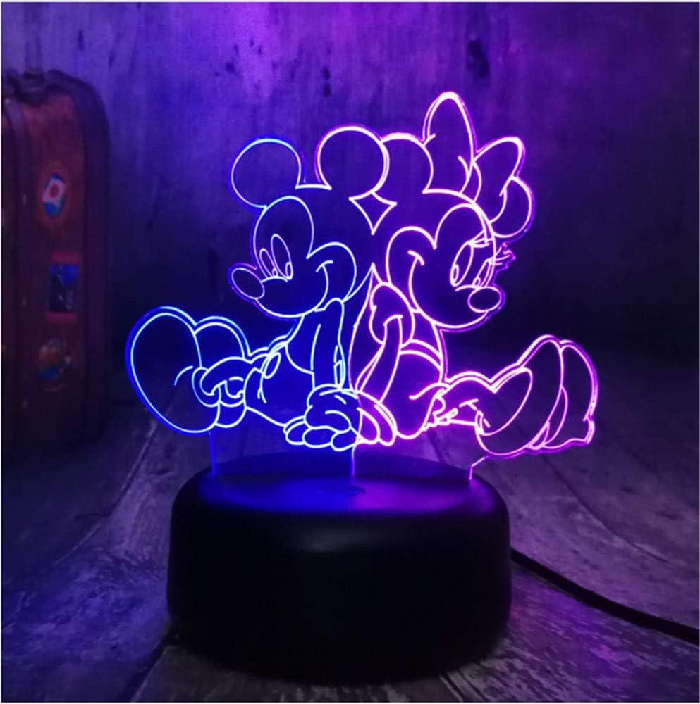 NUEVA Historieta Encantadora Mickey y Minnie Mouse Multicolor 3D ...