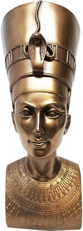 Ebros Bronzed Classical Egyptian Queen Nefertiti Bust Statue 7