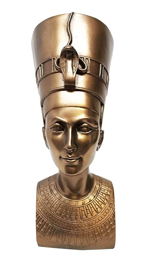 Ebros Bronzed Classical Egyptian Queen Nefertiti Bust Statue 7