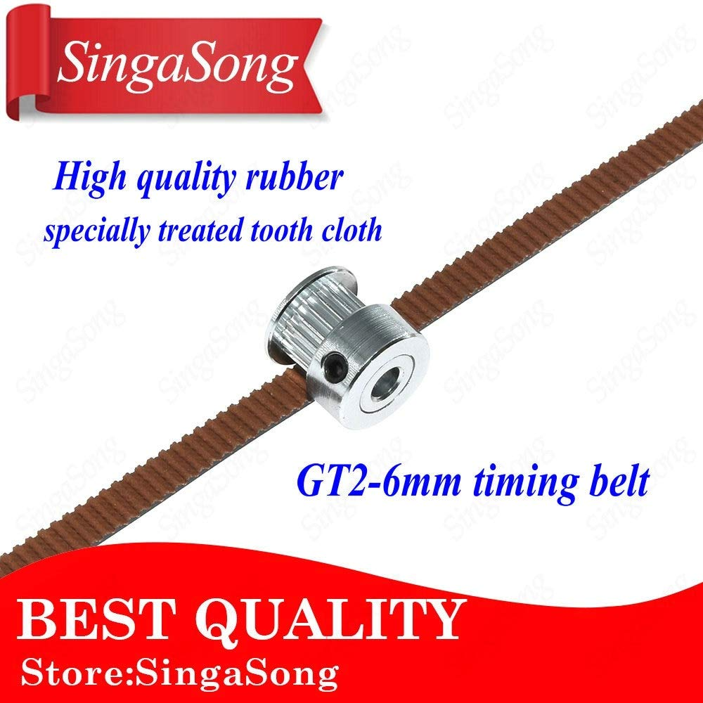 New Anet GT2 Timing Belt with 16 Teeth Timing Pulley 1PCS 1.7m PU Material w..