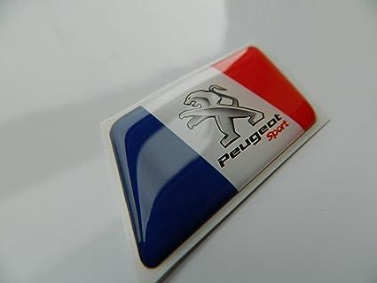 Emblema Sport con bandera francesa para Peugeot 5008, 307, 206, 607